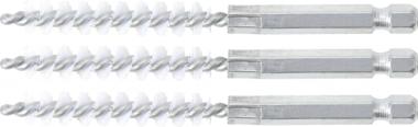 Nylonbürste | 9 mm | Antrieb Außensechskant 6,3 mm (1/4) | 3-tlg