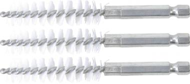 Nylonbürste | 13 mm | Antrieb Außensechskant 6,3 mm (1/4) | 3-tlg