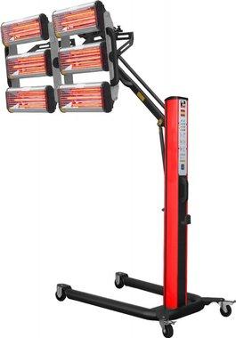 Infrarot-Lacktrockner mit 6 Lampen