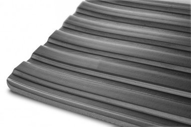 Rubber op rol 10mx1200mmx6mm breedrib zwart