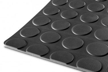 Gummi auf Rolle 10mx1200mmx3mm Noppen schwarz