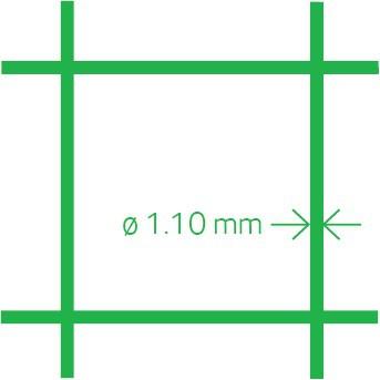 Volierennetz PVC 13x1.1 100 cm x 10 m