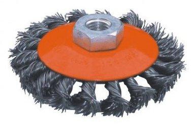 Flachstahl-Bürste mit gedrehtem Durchmesser 125mm