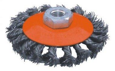 Flachstahl-Bürste mit gedrehtem Durchmesser 115mm