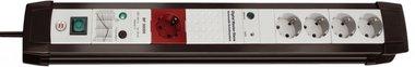 Premium-Line Überspannungsschutz 5fach schwarz/lichtgrau 3 m