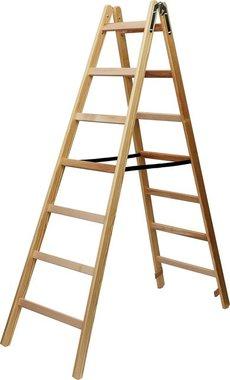 Houten ladder 2x8 sporten Hoogte bok ladder 2,11m