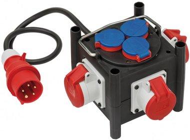 Kompakter Strömungsteiler aus Gummi BSV 3 LS E/16 2 IP44 1m H07RN-F 5G1.5