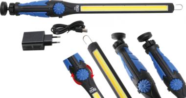 COB-LED-Arbeits-Handleuchte LED Kaltweiß & Gelb ultra flach