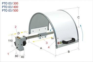 Beschermkap klauwplaat 300x200mm