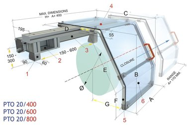 Schiebeschutzabdeckungen 450x430mm