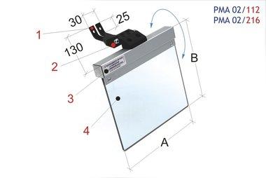Universal-Schutzabdeckungsmühle / Bandschleifmaschine 200x185mm