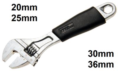 Rollgabelschlussel mit Kunststoff-Softgriff SW