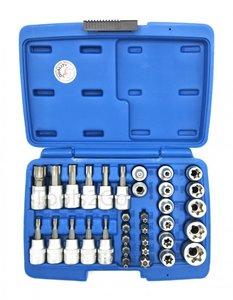 Bit- und Steckschlüssel-Satz 10 mm (3/8) Torx 34-tlg.