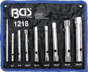 Rohrsteckschlüssel-Satz SW 6x7 - 20x22 mm 8-tlg