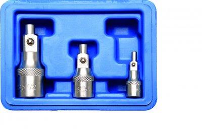 Verlängerungs-Satz mit Magnethalter 6,3 mm (1/4) / 10 mm (3/8) / 12,5 mm (1/2) 3-tlg.