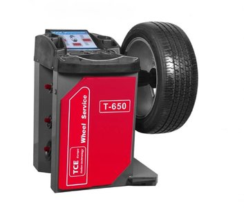Professionelle Auswuchten von Reifen mit Schutz T650