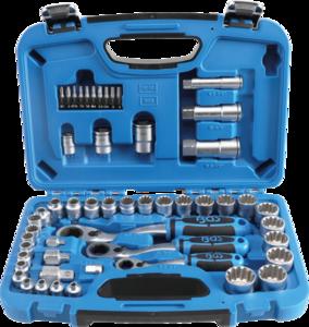 52-teiliges Gear Lock-Thru-Sockel-Set, 4,5 - 25 mm