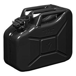 Benzinkanister 10L metall schwarz UN- & TüV/GS-geprüft